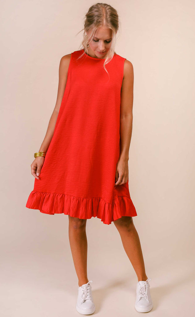 swing swing easy dress - red