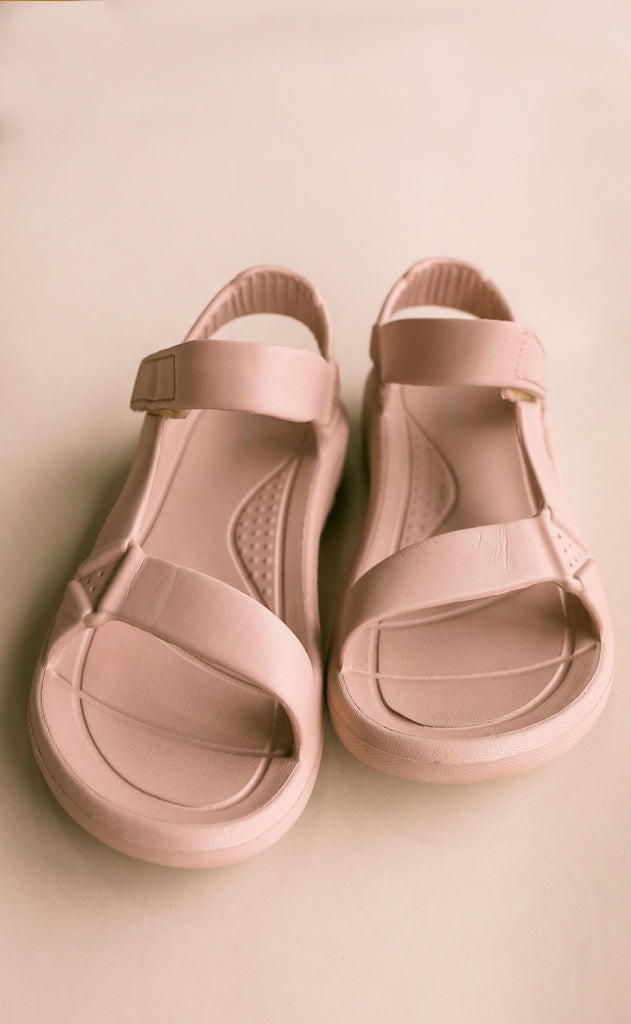 on the go sandals - mauve
