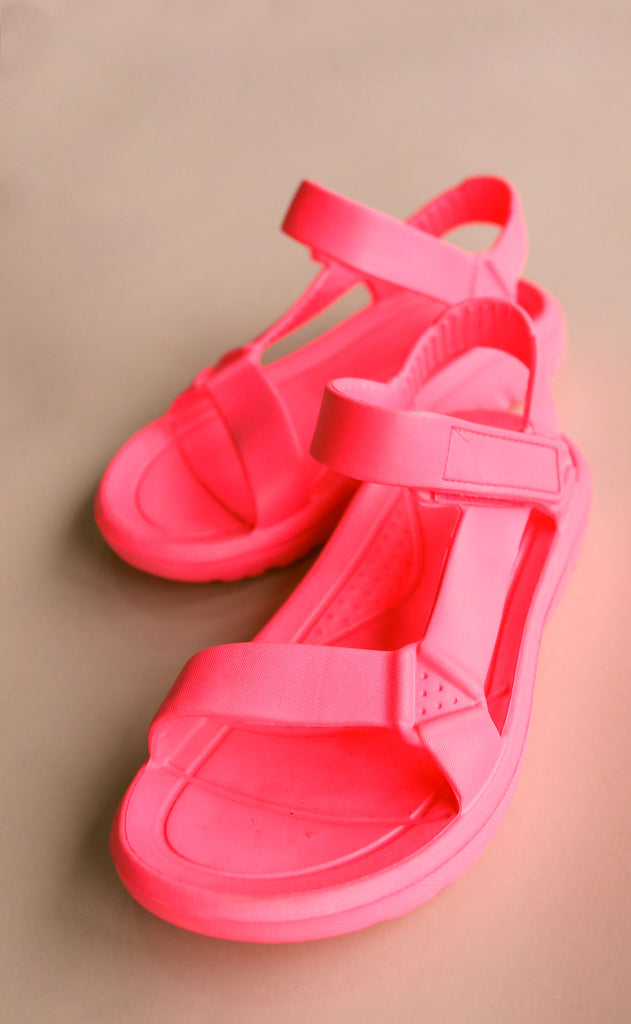 on the go sandals - hot pink