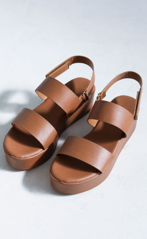 city slicker platform sandals - brown