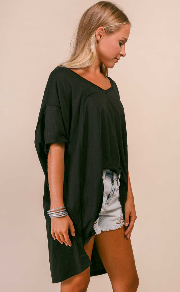 free people movement: city vibes tee - black