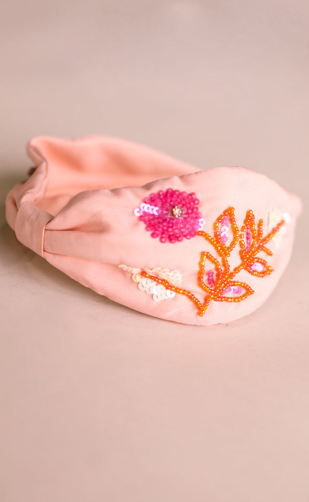 treasure jewels: pink flower headband