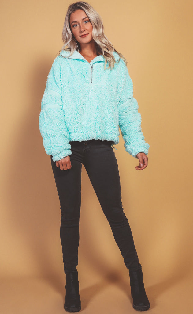 free people movement: nantucket fleece - iced aqua