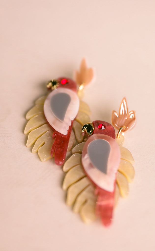 treasure jewels: loro earrings - pink