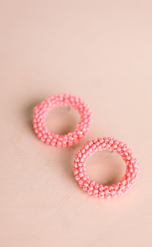 treasure jewels: camille earrings - baby pink