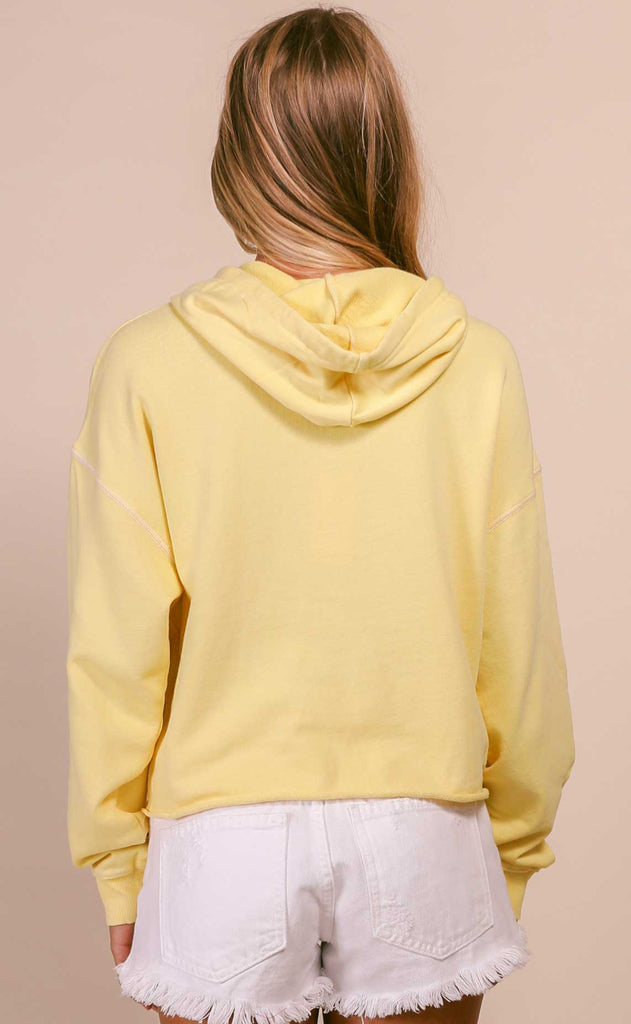 z supply: gia washed hoodie - sunny yellow