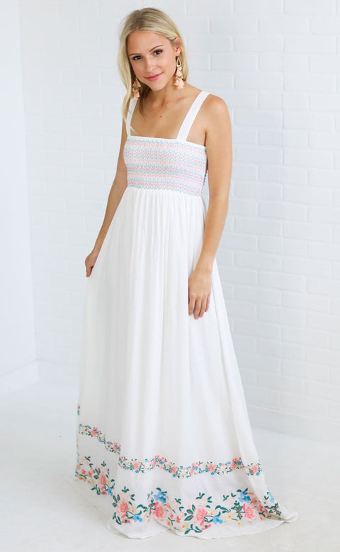 show me your mumu: eliana maxi dress - once upon a flower embroidery