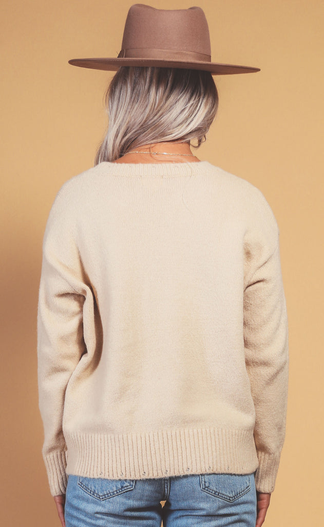 honey oatmeal sweater