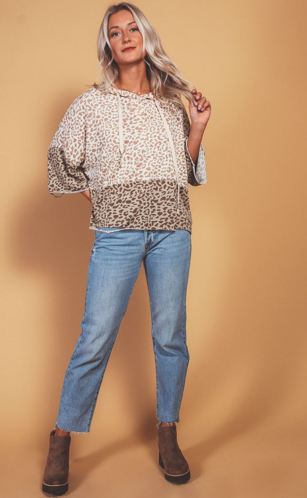 whenever where-ever leopard pullover