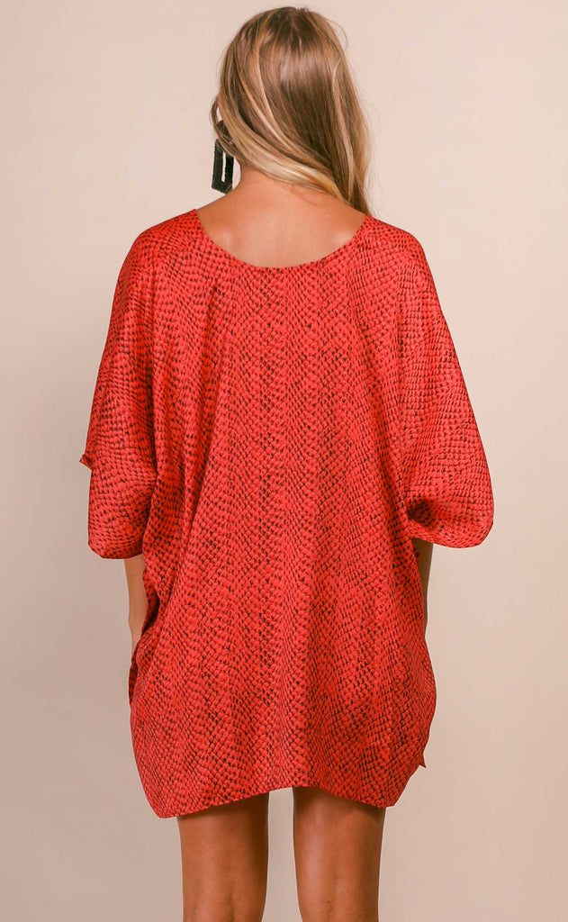 buddylove: north tunic - red python
