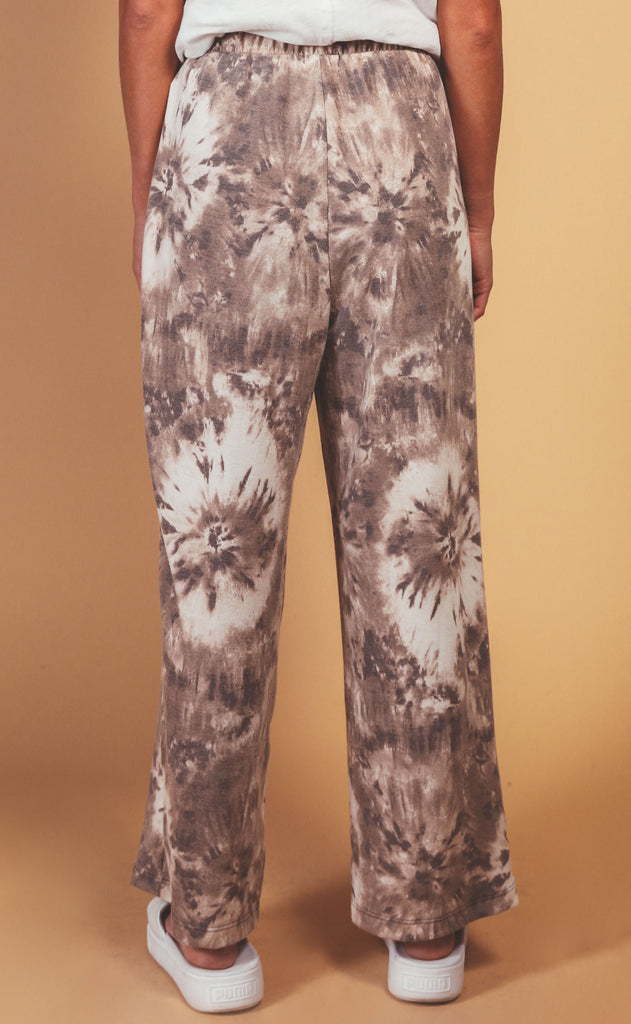lounge lover tie dye terry pant