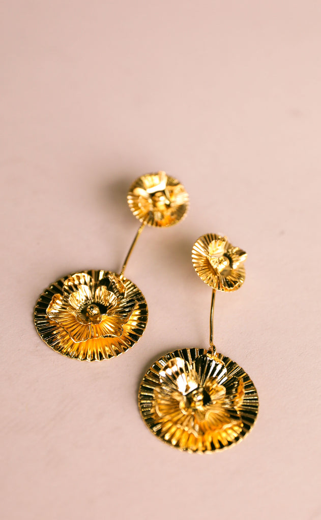 treasure jewels: doble flor earrings
