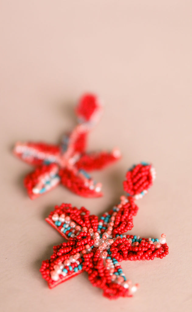 treasure jewels: sea star earrings