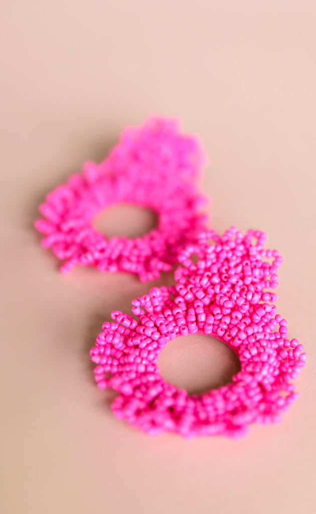 treasure jewels: stella earrings - hot pink