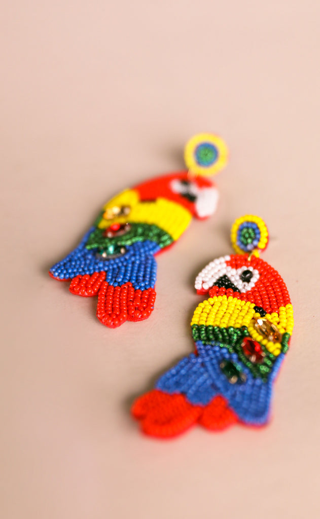 treasure jewels: parrot earrings