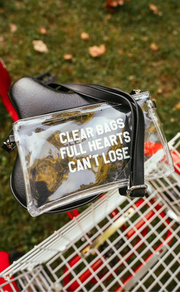 charlie southern: clear bags full hearts stadium bag