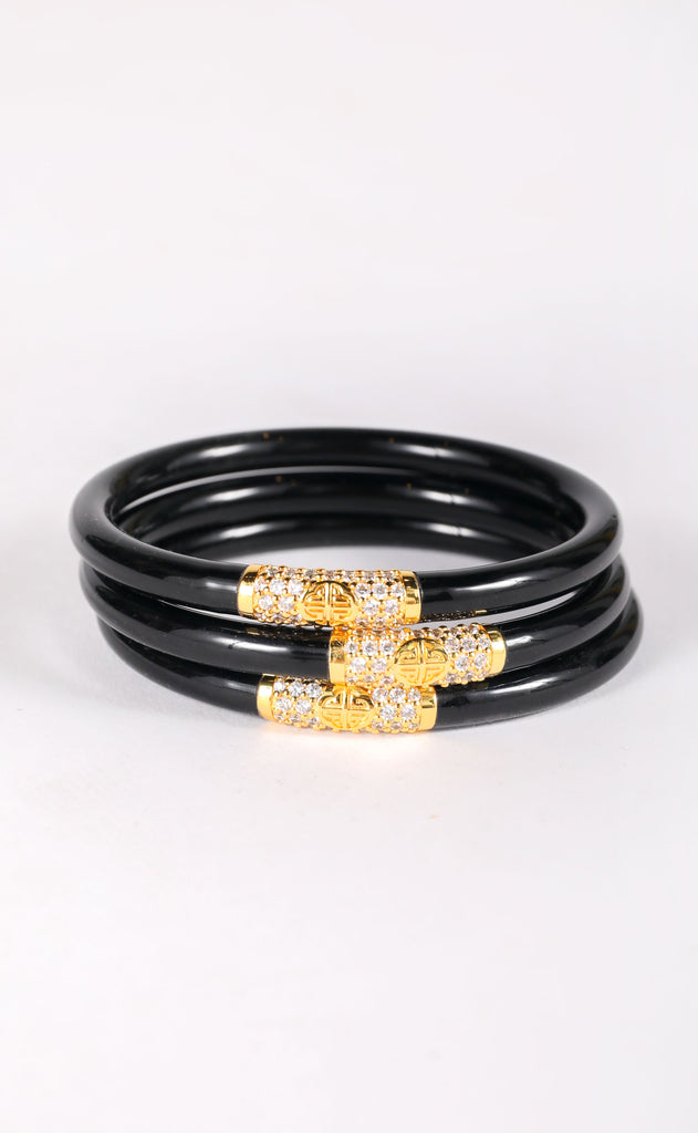 budha girl bangles - black