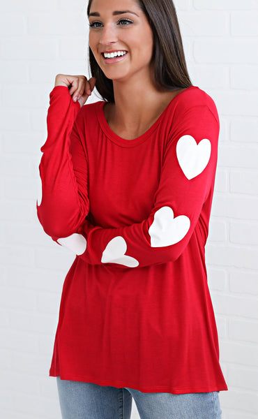 heart on my sleeve knit top