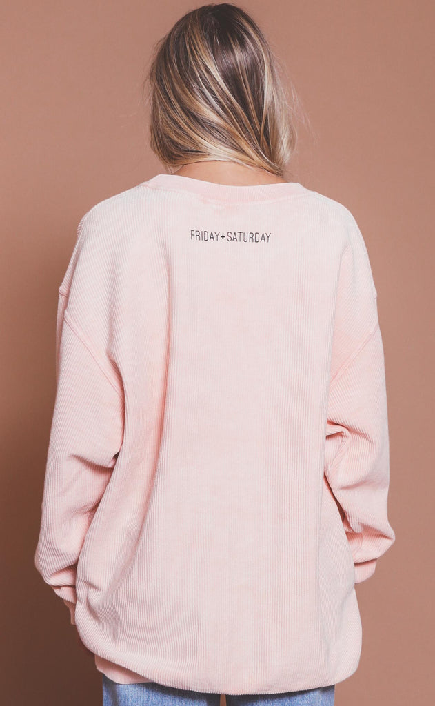 friday + saturday: best weekend ever corded sweatshirt