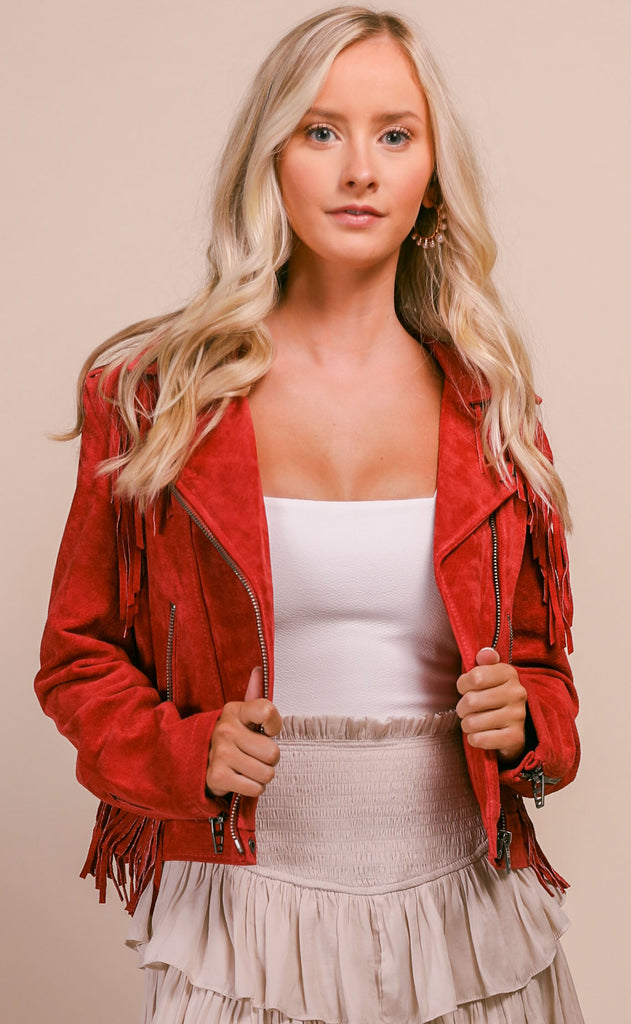 blank nyc: fired up jacket - red