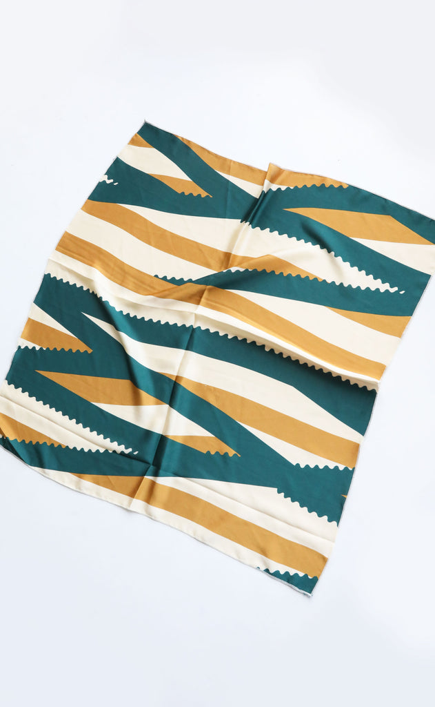 silky scarf - vintage abstract stripe