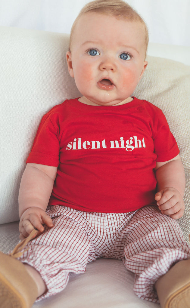 charlie southern: silent night baby tee