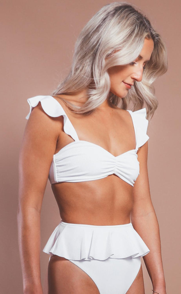 beach riot: poppy top - white