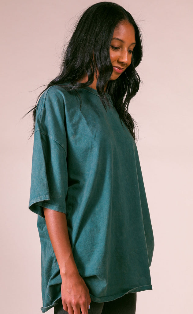 at ease tunic tee - teal