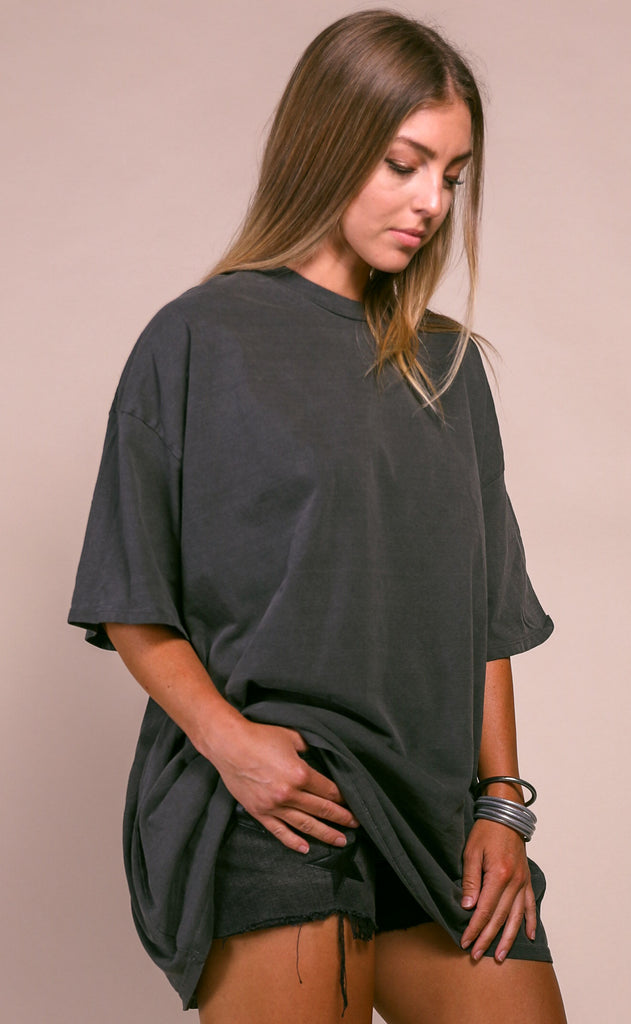at ease tunic tee - charcoal