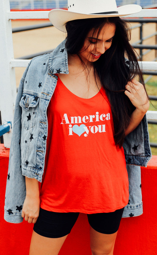 friday + saturday: america i love you tank