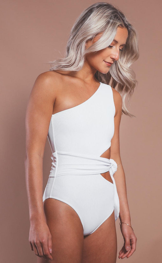 beach riot: carlie one piece - white