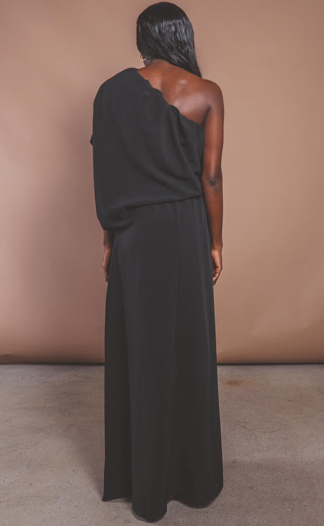 take me to tuscany one shoulder maxi