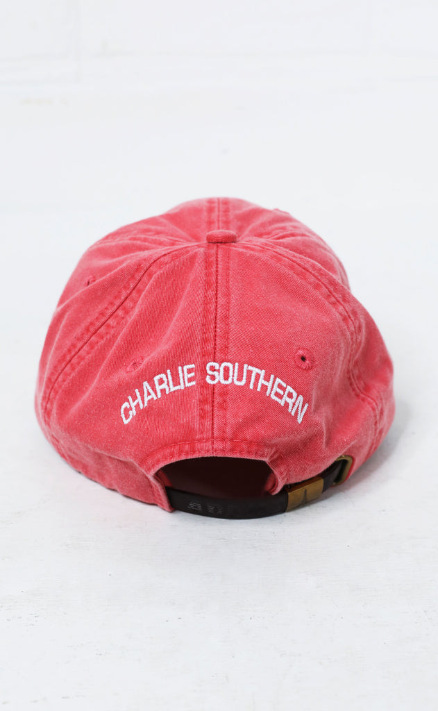 charlie southern: texas outline hat - red