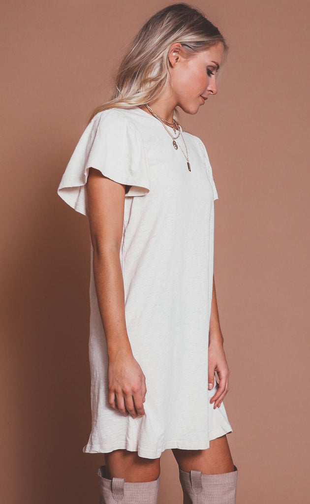z supply: sofia cotton slub dress - bone