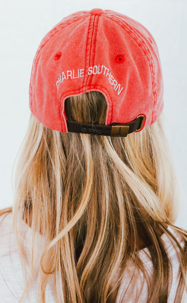 charlie southern: football hat - red