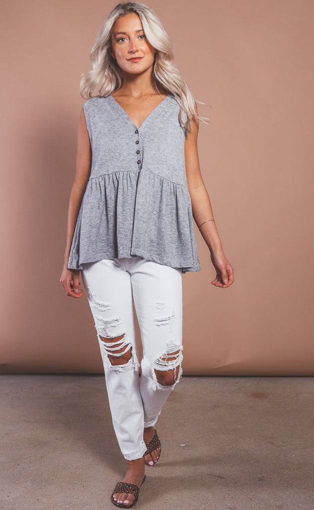 take it easy peplum tank