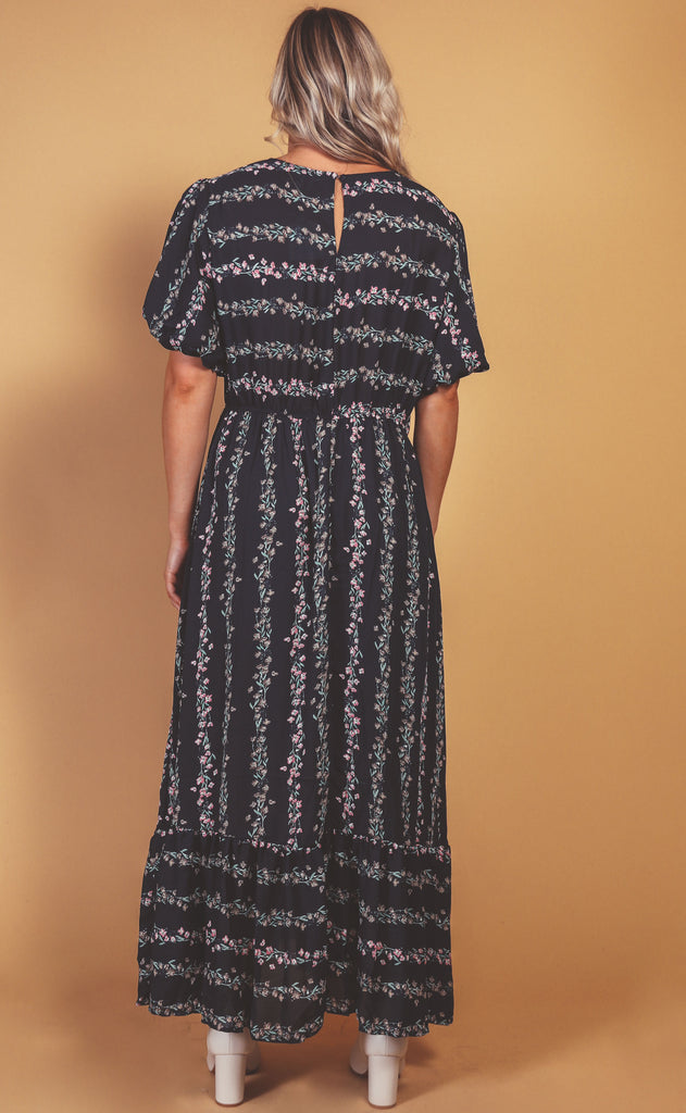 soiree floral maxi dress - extended