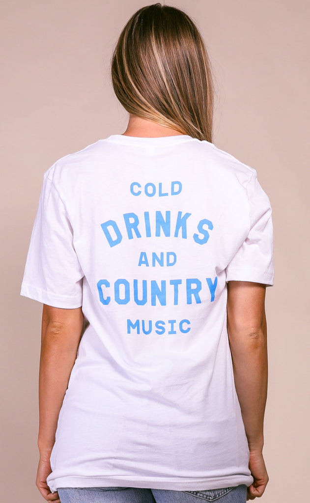 charlie southern: cold drinks + country music t shirt