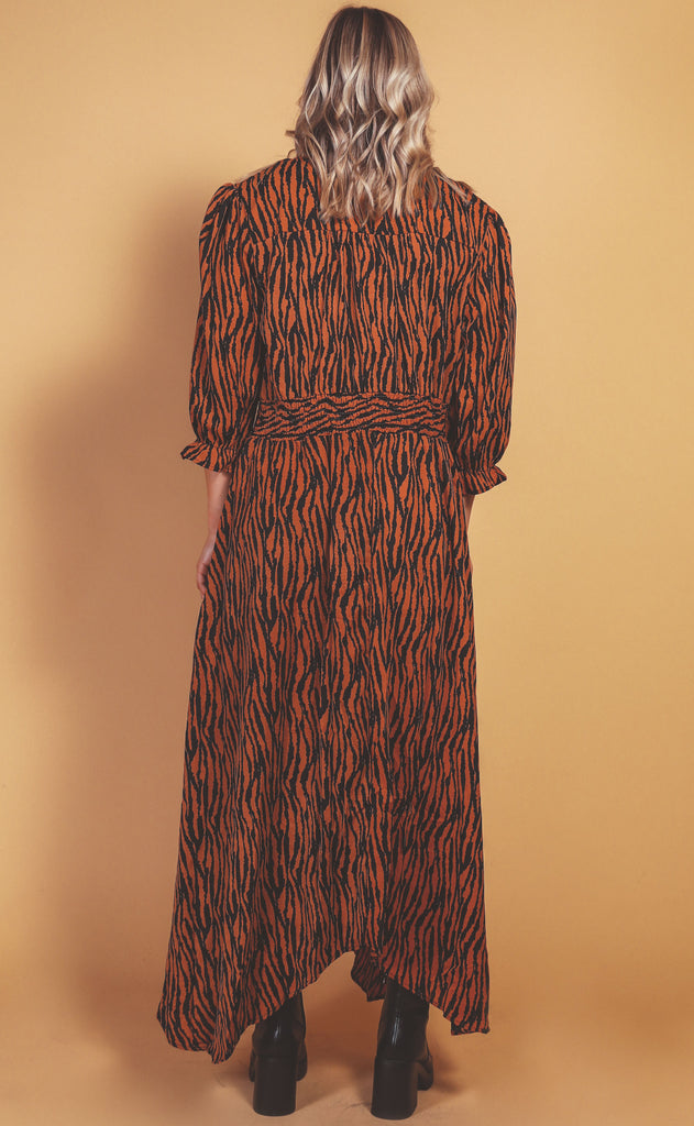 safari classics maxi dress - extended