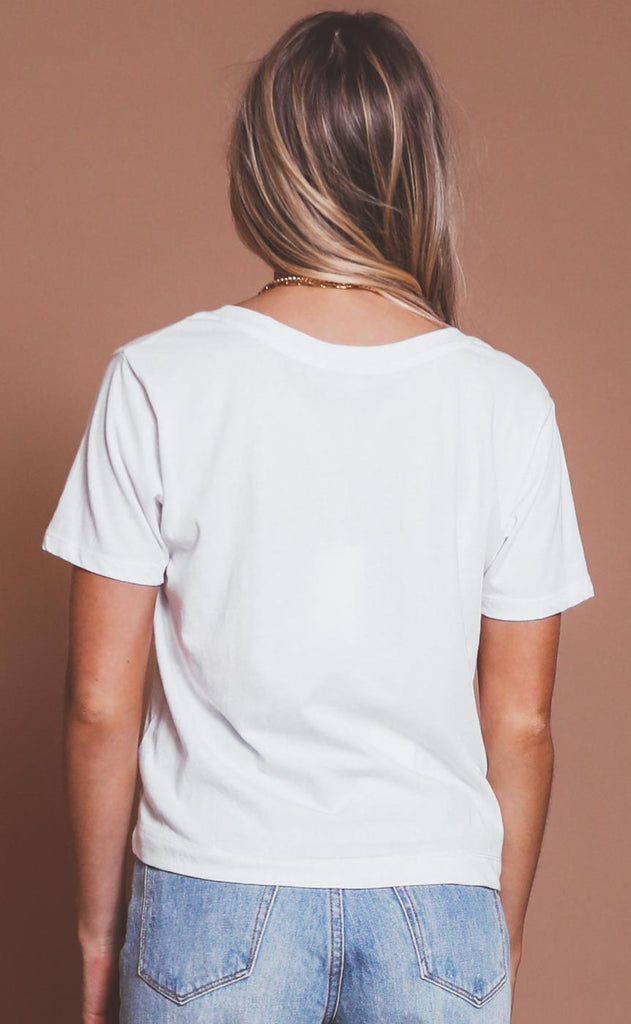 z supply: classic skimmer tee - white