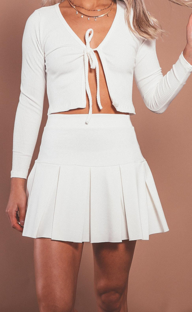 perfect match tennis skirt - ivory