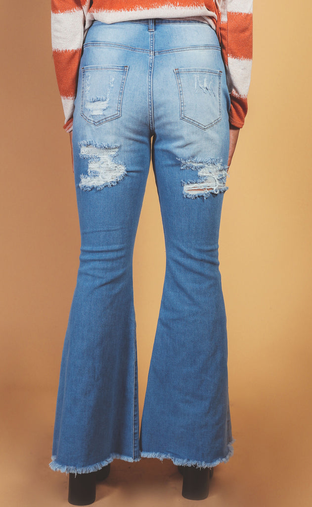westcoast flare medium blue wash - extended