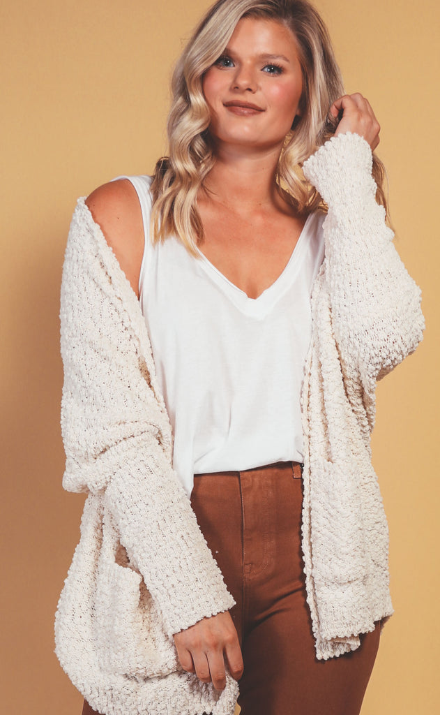 barefoot and cozy cardigan - extended