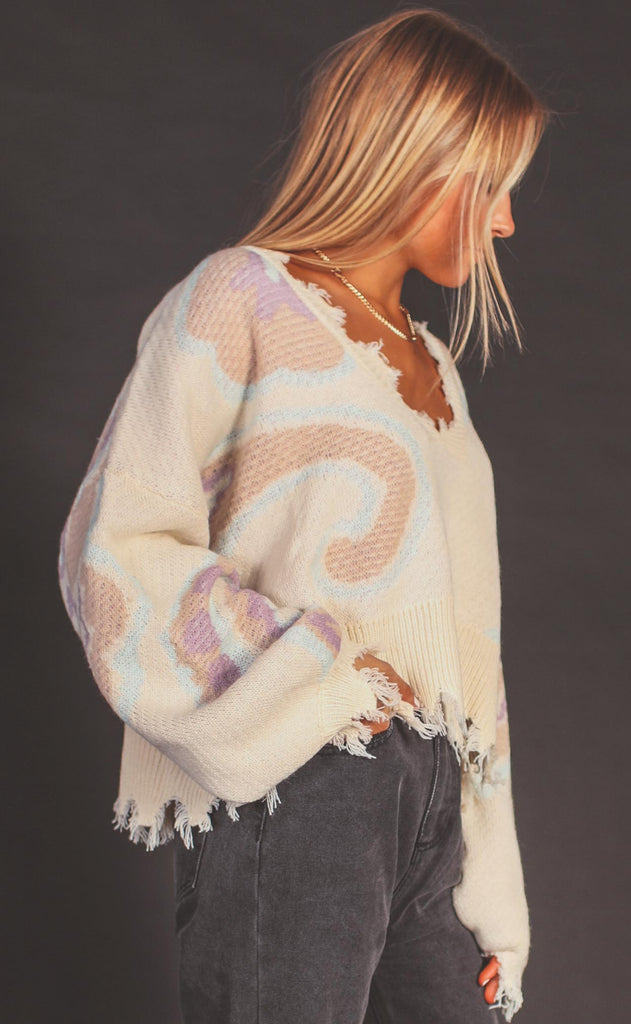 let's do brunch printed sweater