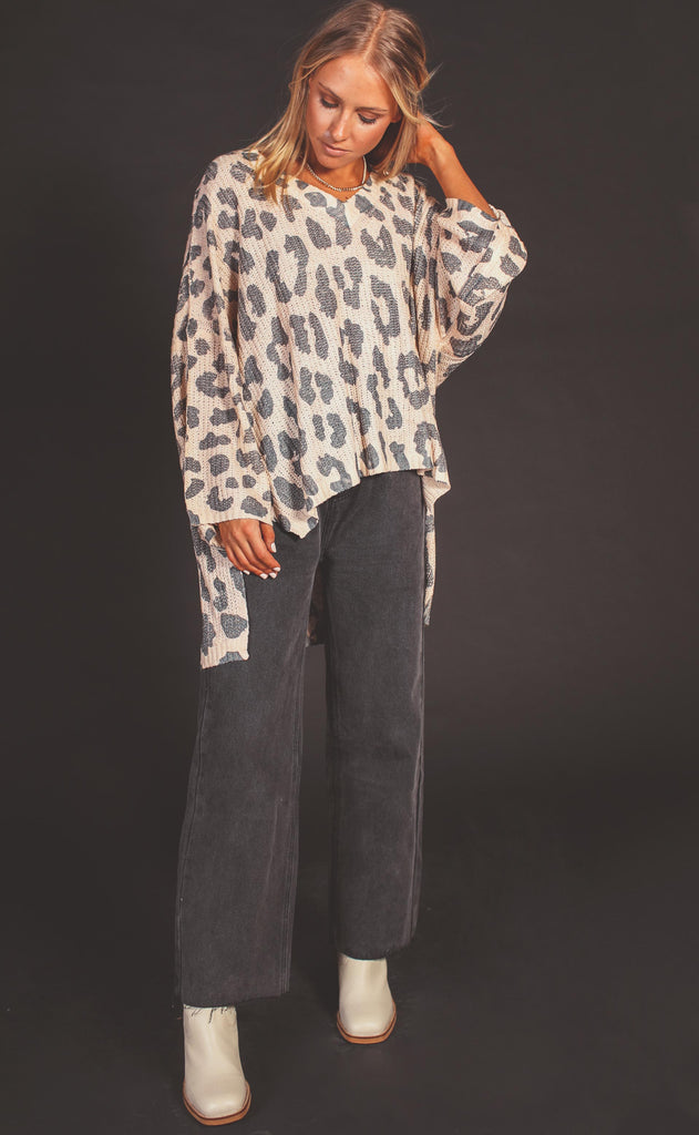all in the details leopard sweater