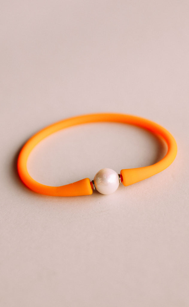 gresham jewelry: maui bracelet - orange/yellow