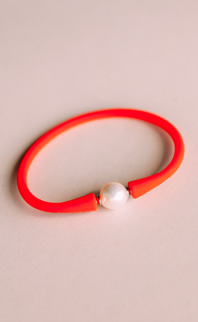 gresham jewelry: maui bracelet - coral/orange