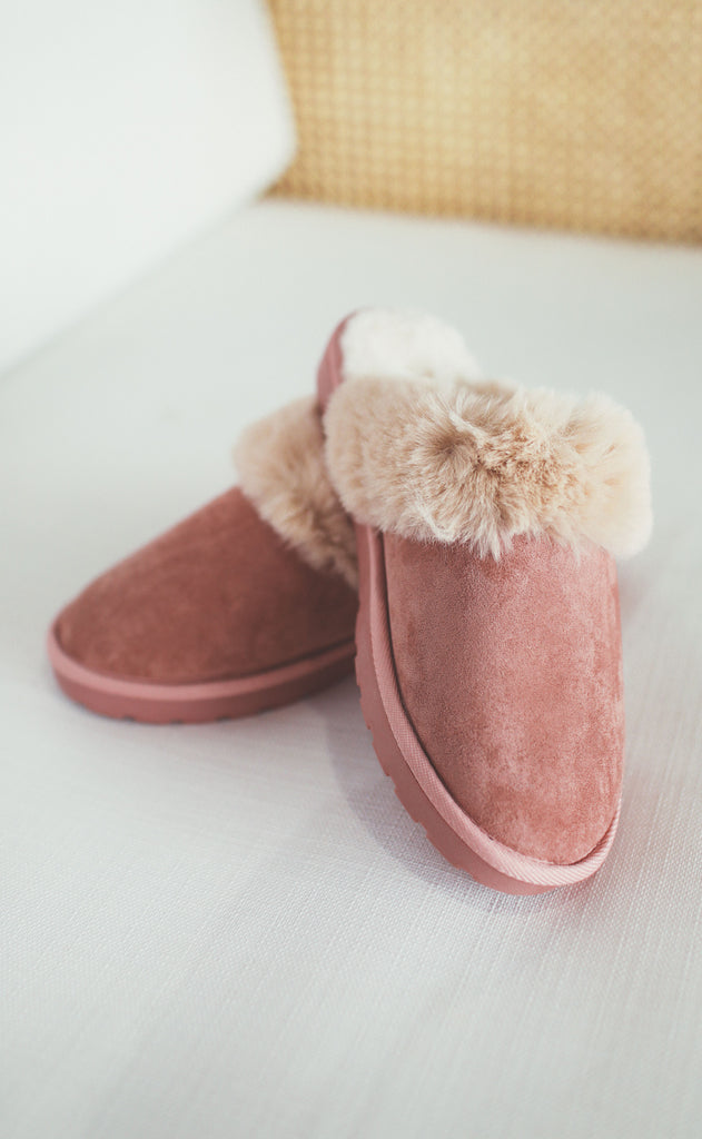 snow day slipper - blush