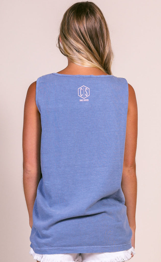 charlie southern: knee deep comfort colors tank