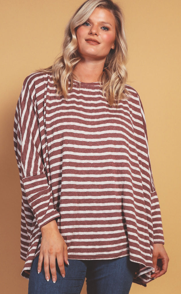 don't get it twisted neck band top faded plum - extended